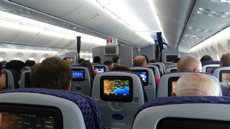 Inside United Airlines 787 Inaugural Flight, Takeoff and